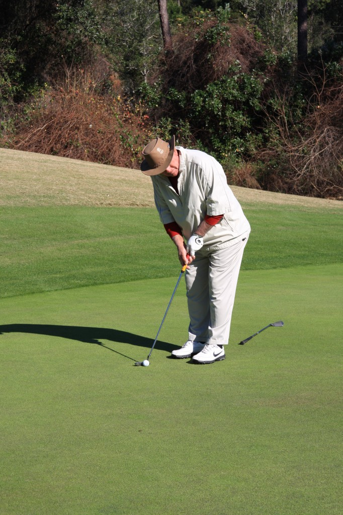 Putting around the Marcus Pointe Golf Course in Pensacola, Fla.