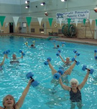 Water aerobics are offered at many area colleges.