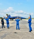 Blue Angels take to the skies.